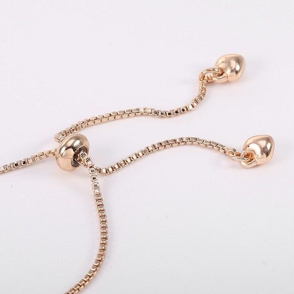 Bracelet arbre de vie rose à chaîne en cordon