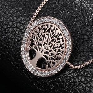 Bracelet arbre de vie rose avec starss