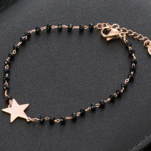 Bracelet avec étoile rose gold