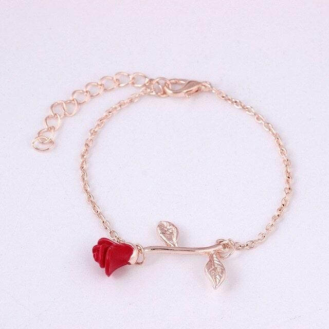 Bracelet avec une rose