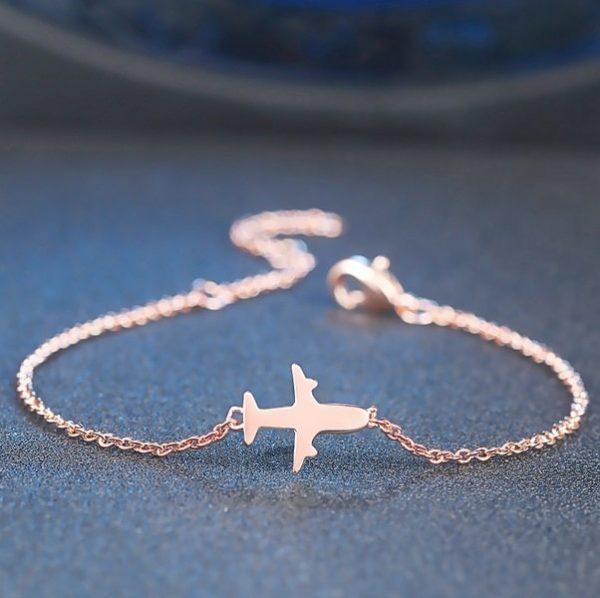 Bracelet avion rose