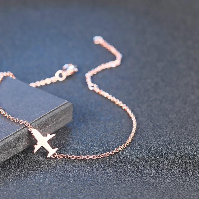 Bracelet avion rose, pour fan d'avionsBracelet avion rose, pour fan d'avions
