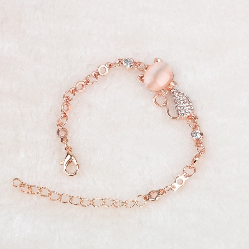 Bracelet chat rose gold