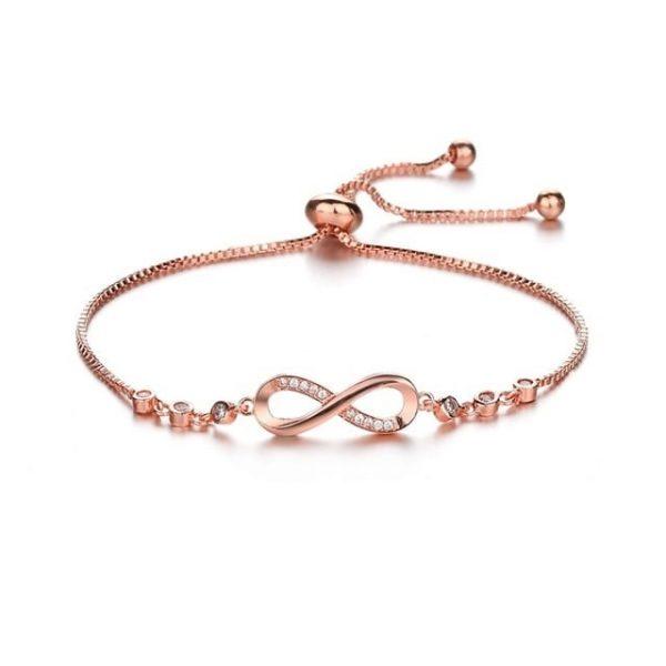 Bracelet infini rose