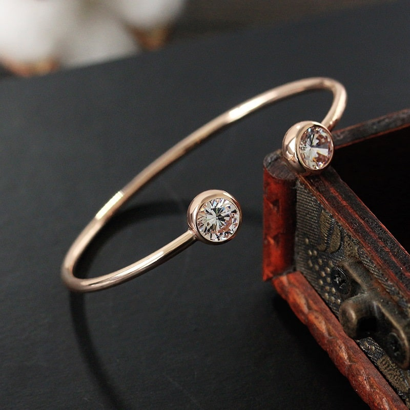 Bracelet jonc rose