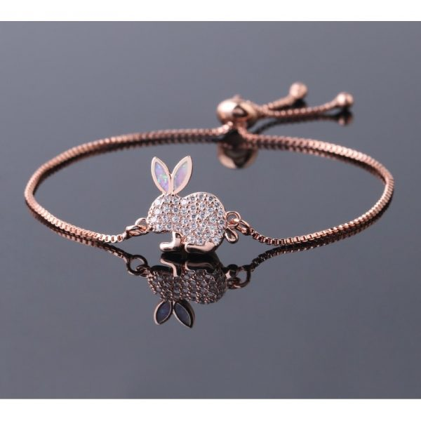 Bracelet lapin rose