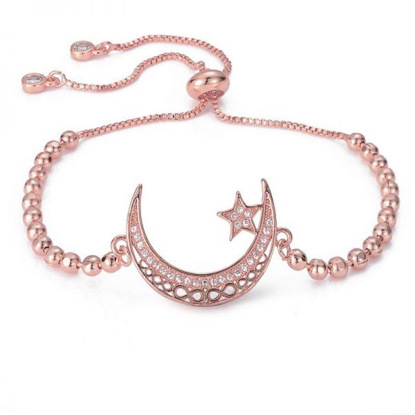Bracelet lune rose