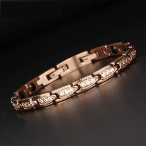 Bracelet magnétique rose