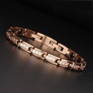 Bracelet magnétique rose, pour guérison