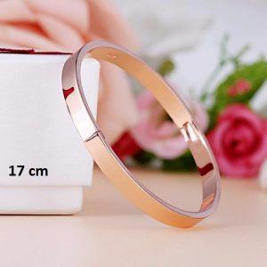 Bracelet rigide rose 17 cm