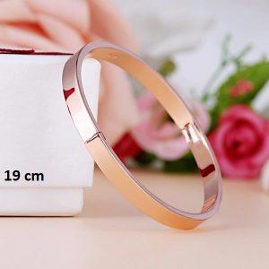 Bracelet rigide rose 19 cm