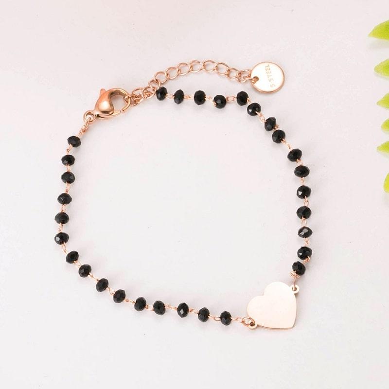 Bracelet rose coeur