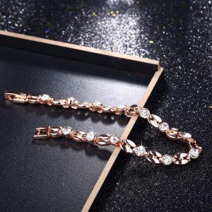 Bracelet rose femme, brillant