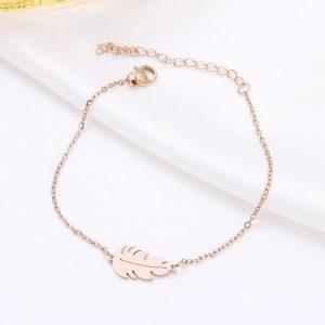 Bracelet rose feuille