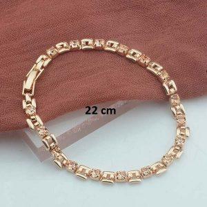 Bracelet rose gold pas cher Champagne 22 cm