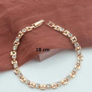Bracelet rose gold pas cher blanc 18 cm