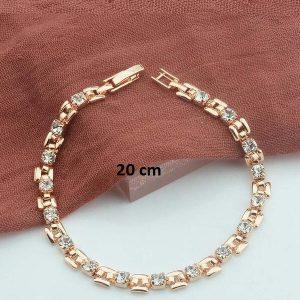 Bracelet rose gold pas cher blanc 20 cm