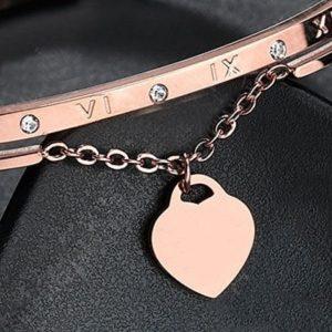 Bracelet rose mariage coeur