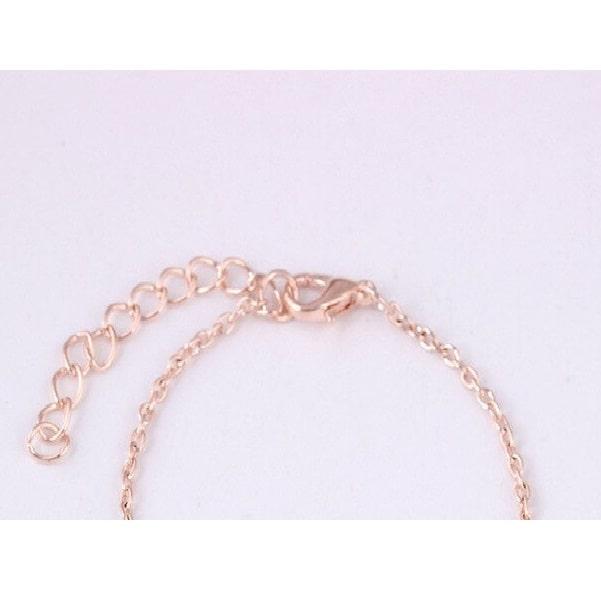 Bracelet rose rouge fermoir