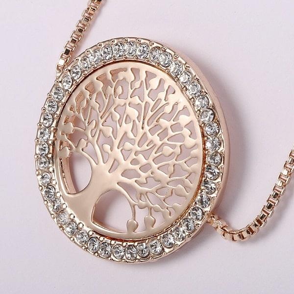 Bracelet symbole arbre de vie rose