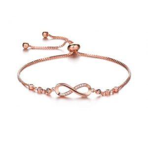 Bracelet symbole infini rose