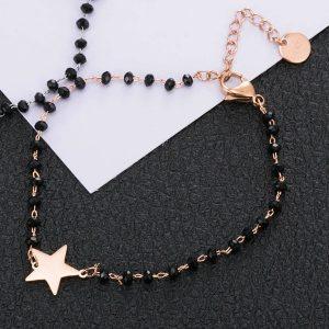 Magnifique Bracelet rose étoile