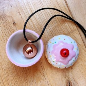 Collier bola rose gold