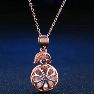 Collier brillant quartz rose argent