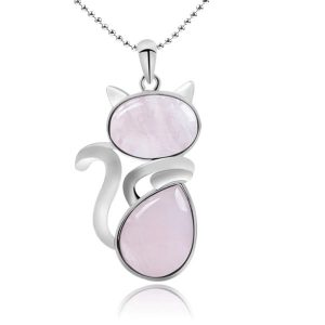 Collier chat rose