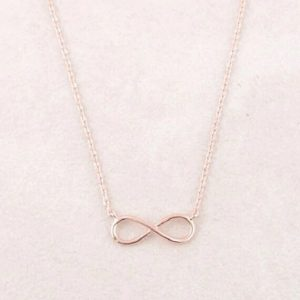 Collier infini rose gold