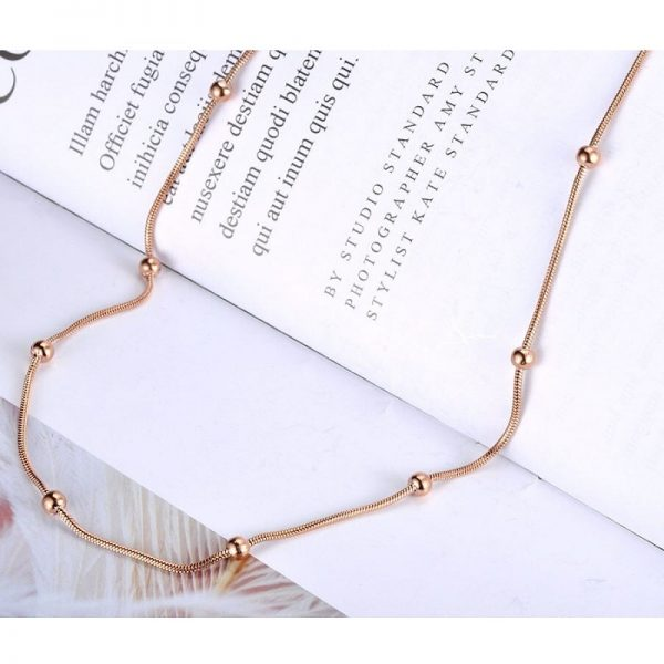 Collier rose gold pas cher