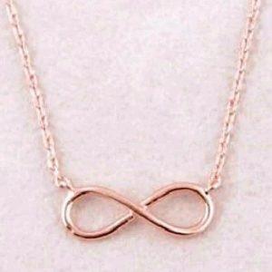 Collier rose gold, symbole de l'infini