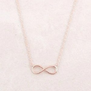 Collier rose gold, symbole infini