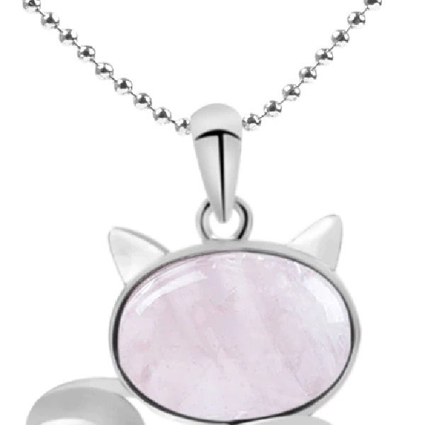 beau collier chat rose, tête