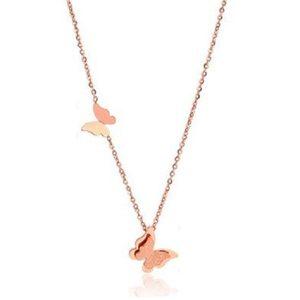 Collier papillon rose pour femme