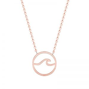Collier vague rose