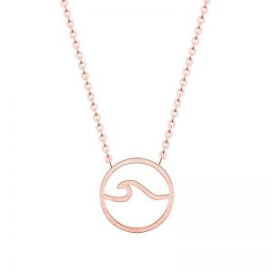 Collier vague rose femme