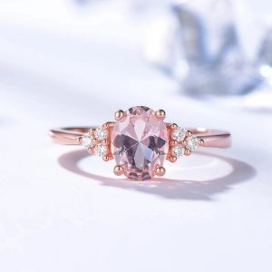 Bague morganite rose