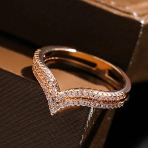 Bague rose diamant