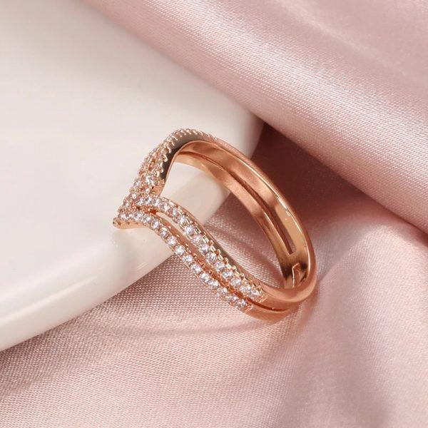 Bague rose diamant féminine