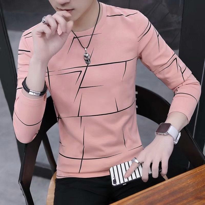 T shirt rose homme