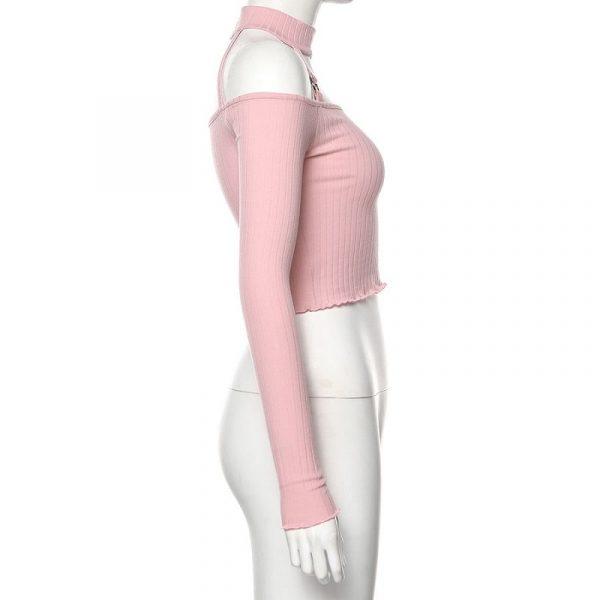 T shirt rose pale sans bretelles