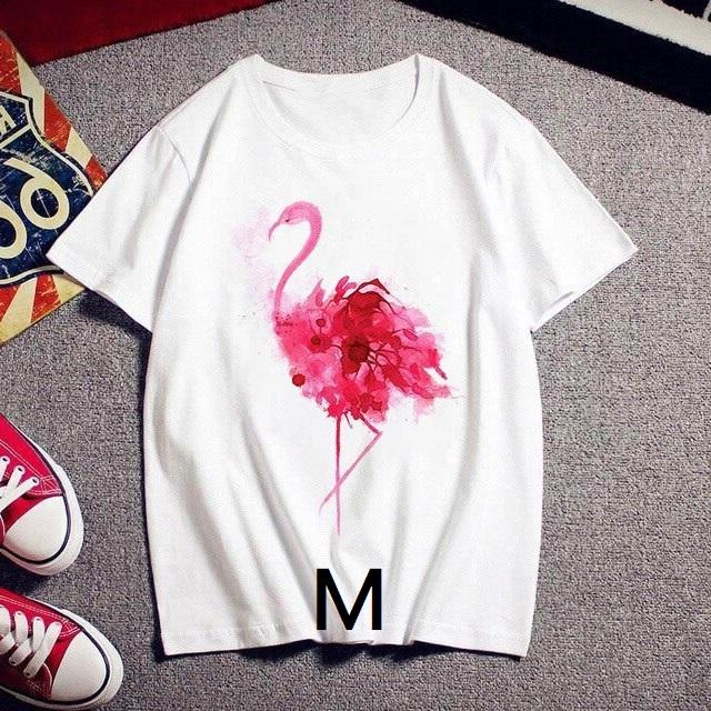 Tee shirt flamant rose M