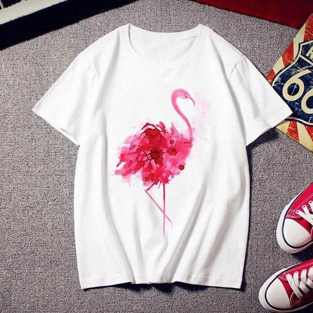 Tee shirt flamant rose
