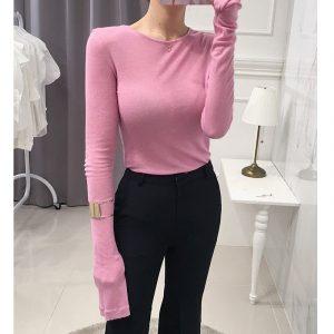 Tee shirt rose pale femme, taille unique