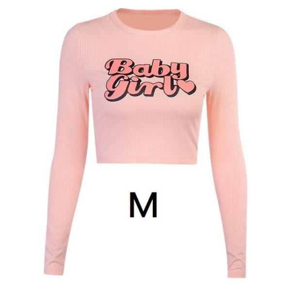 Tee shirt rose poudré femme, manche longue M