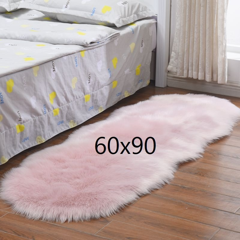 Tapis chambre fille rose clair, 60x90