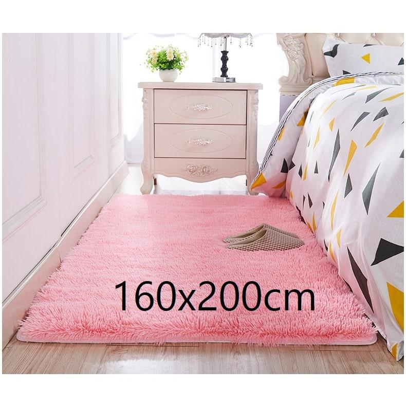 Tapis chambre rose 160x200cm
