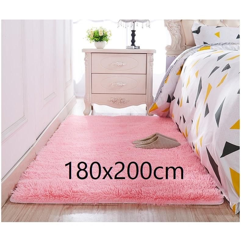 Tapis chambre rose 180x200cm