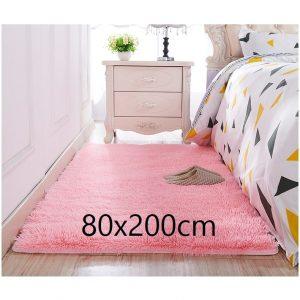 Tapis chambre rose 80x200cm